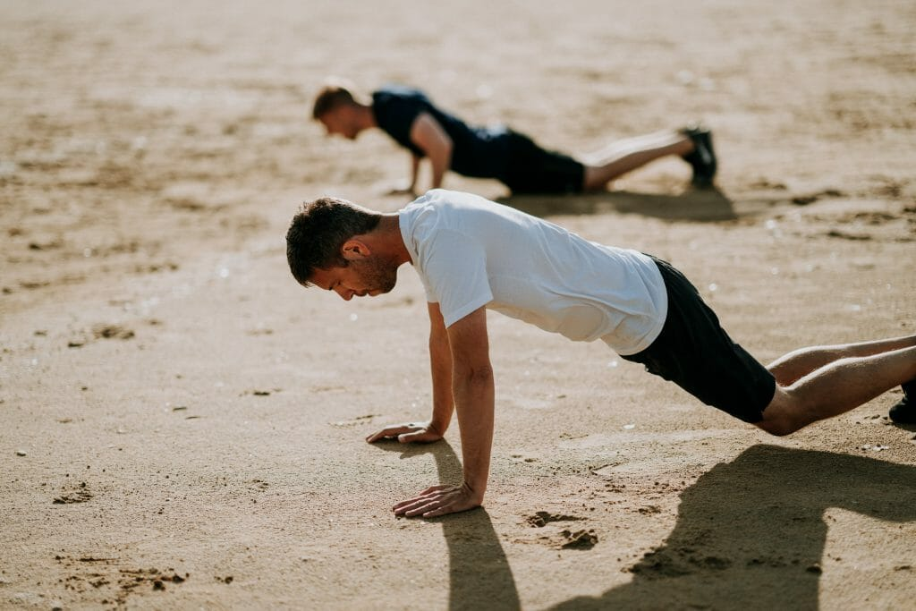 exercising-outside